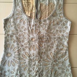 Project Alabama Scoop Neck Sleeveless Shirt
